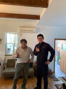 本日は、岡山から(株)ココピアの藤原 さんがエコキメラの研修に来られました。